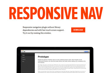 Responsive Nav: A Simple JavaScript Plugin For Responsive Navigation