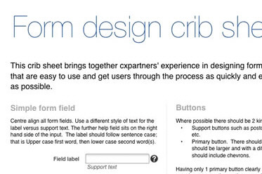 Free Download: Cheat Sheet For Designing Web Forms