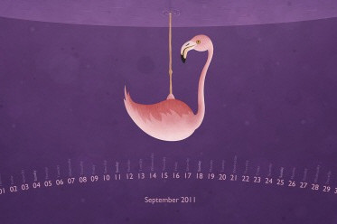 Desktop Wallpaper Calendar: September 2011
