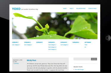 WordPress 3.1+Theme With Responsive Layout: Yoko