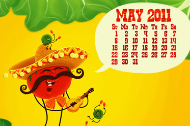 Desktop Wallpaper Calendar: May 2011