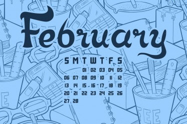 Desktop Wallpaper Calendar: February 2012