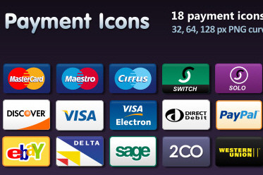 Debit Card and Payment Icons Set (18 Icons)
