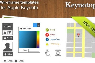 Free Wireframing Templates for Apple Keynote