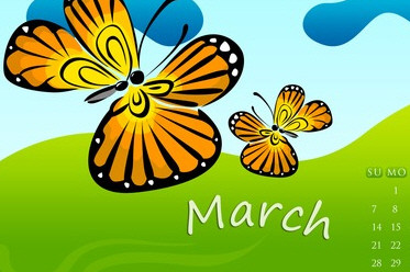 Desktop Wallpaper Calendar: March 2010