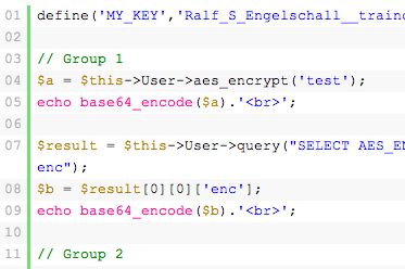 Replicating MySQL AES Encryption Methods With PHP