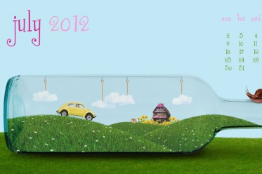 Desktop Wallpaper Calendar: July 2012