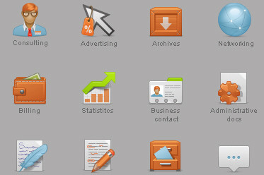 Content Management System (CMS) Icon Set (12 Free Icons)