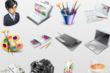 Free Designer's Portfolio Icon Set (12 High Quality Icons)