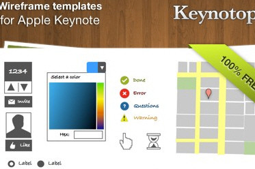 Keynotopia Wireframing Set: Free Wireframing Templates for Apple Keynote