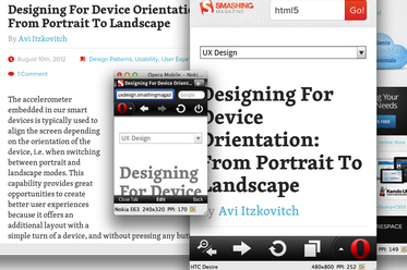 Responsive Designs With Opera Mobile Emulator