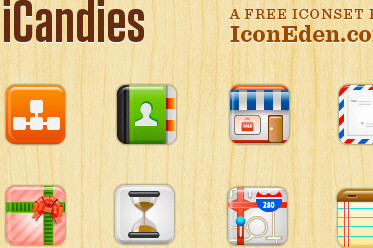 iCandies: 60 Free Icons For Your UIs and Apps