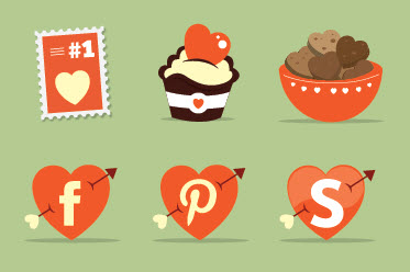 St. Valentine's Day Icon Set (16 PNG/EPS Icons)